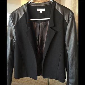 Jackets & Blazers - Brand New Cotton and Vegan Leather Jacket